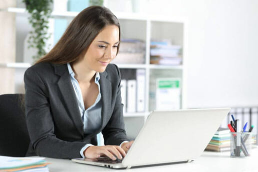 Woman shopping for life insurance with mortgage